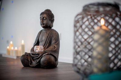 Der Buddha in unserem Studio InMotion in Lüdinghausen wacht über uns