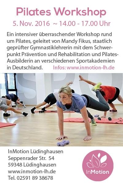 Besuchen Sie den Pilates-Workshop bei InMotion aus Lüdinghausen