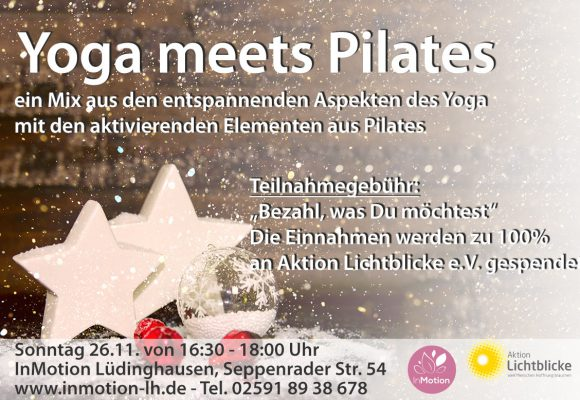 Yoga meets Pilates eine Aktion zugunsten Lichtblicke e. V.