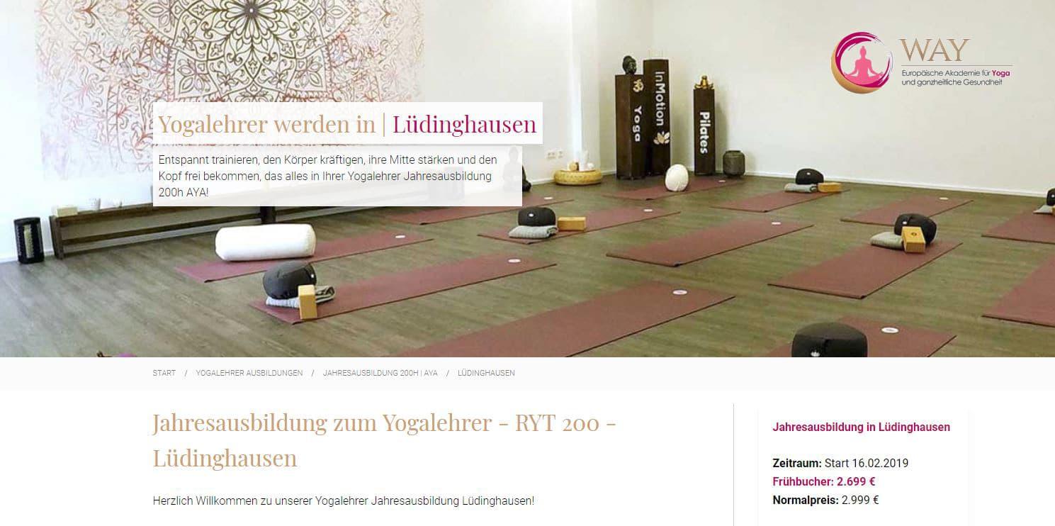 Yahresausbildung zum Yogalehrer