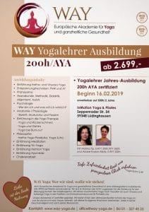 Plakat Yogalehrer Ausbildung in Lüdinghausen