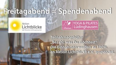 Spendenyoga bei InMotion Yoga Lüdinghausen